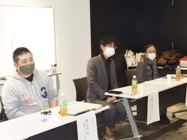 演劇界の現状について語る(左から)舘さん、田邉さん、鈴木さん