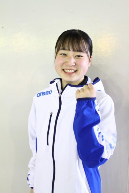 女子自由形50メートルで大会新をマークした吉田