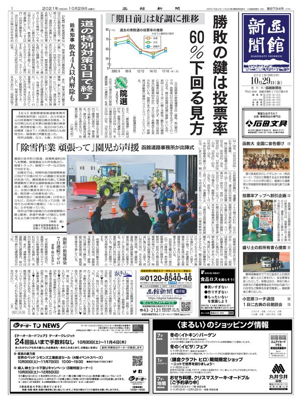 函館新聞紙面