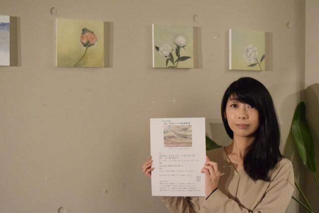 絵画教室への参加を呼び掛ける安田さん